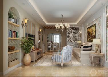 万博manbetx登录城市一号146m²欧式田园风格
